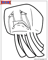 Ghast From Minecraft Video Game Coloring Pages