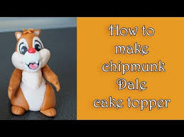 Alvin And The Chipmunks Cake Toppers by How To Make Fondant Chipmunk Dale Topper Tutorial Jak Zrobić
