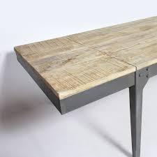 table industrielle 14 personnes bois gris made in meubles