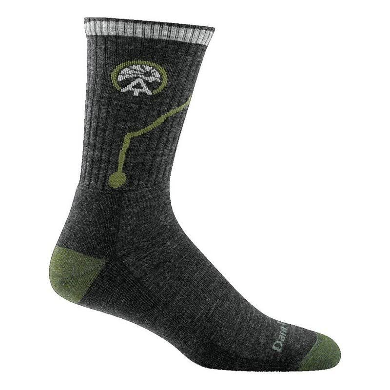 Darn Tough Vermont Men's Atc Merino Wool Micro Crew Cushion Socks - Charcoal