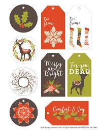 Free Printable Vintage Rustic Christmas Gift Tags