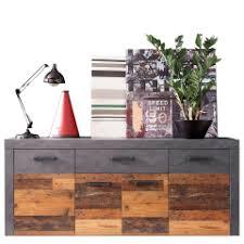 möbel sideboard indy kommode in wood und graphit grau