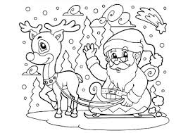 Cool Coloriage Pere Noel Traineau In Coloriage Renne Traineau Et P