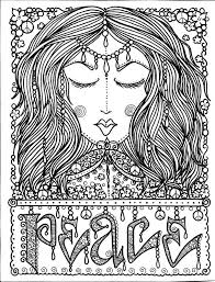 INSTANT DOWNLOAD PEACE YOGA ART Coloring Page Crafting Scrap Booking You Will Be Able