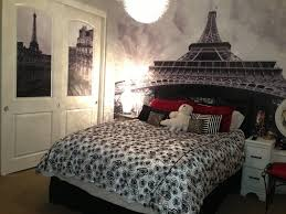 Bedroom Paris Room Decor Hobby Lobby Cream Varnished Wooden Night Stand Bed White Sheet Platform