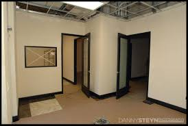 Photo Studio Front Lobby Showing Tiles Black 8ft Doors With Frosted Glass And