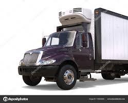 100 Refrigerator For Truck Dark Purple Closeup Cut Shot Stock Photo