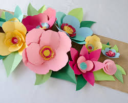 Outstanding Hand Cut Paper Flowers Project Nursery How To Make In Construction