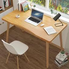 massivholz computer laptop schreibtisch nordic stil büro schreibtisch computer tisch holz stehend schreibtische für home office wohnzimmer 70x40
