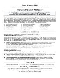 It Manager Resume Sample Service Delivery Best In