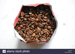 Berlin Germany A Pound Of Toasted Coffee Beans In Vacuum Package