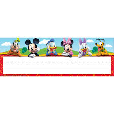 Funny Desk Name Plates by Mickey Mouse Clubhouse Self Adhesive Name Plates Eureka