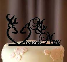 Country Style Wedding Cake Toppers Deer Topper Rustic Shabby Chic Redneck Cowboy Outdoor Western Acrylic Nz