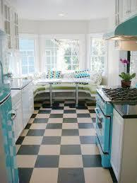1950s Retro Chill Aqua Kitchen Eclectic