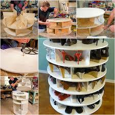 wonderful diy lazy susan shoe storage rack shoe storage rack