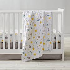 nightfall crib bedding planet star moon the land of nod