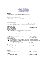 Entry Level Psychology Resume Sample