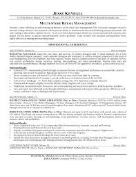 Sample Resume For Retail Manager Example By Fashion Store