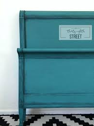 DIY Painting Furniture Tutorial Worn Turquoise Look Bed Transformation Chalk