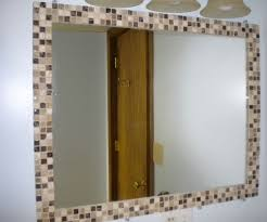 Blue Mosaic Bathroom Mirror by Best 25 Mirror Border Ideas On Pinterest Pallet Mirror Dyi