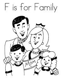 Top 10 Family Coloring Pages For Your Toddler It Is Very Important That Kids