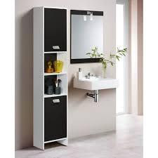top colonne de salle de bain l 39 cm blanc et noir achat
