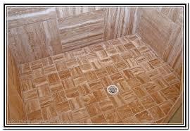 wood look tile shower best 25 river rock shower ideas on