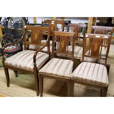 Biedermeier Art Deco Dining Chairs Set Of 6 1920s 1930s 1940s Carver ... Set Of 8 Mahogany Ladder Back Ding Chairs Loveday Antiques West Saint Paul Vintage Finds Art Deco And Retro Fniture Of The 50s 60s Riva 1920 Boss Executive Table 810 Seater Walnut Heals French Louis Xiv Style Circa 1920s Art Deco Console Antique Fniture Sold 4 Tudor New Upholstery Elegant Pair Felix Kayser Antrosophical Ash Wood Chairs From Sothebys Home Designer Fniture John Hutton 0415antiqueshtml Mad For Midcentury More American Martinsville Info