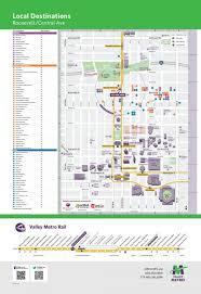 Valley metro light rail map Valley metro rail map Arizona USA