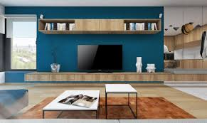 Visualization Of The Living Room With A Television Set