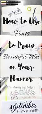 Best 25 Bullet journal headings ideas on Pinterest