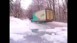 Watch This Delivery Truck Drift Go Drifting In The Snow - The Drive
