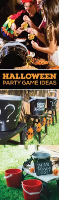 Halloween Game Ideas Set Up Igloo Party Pails To Create A Bean Bag Toss