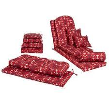 Alfrescotrade Red Anchor Indoor Outdoor Cushions