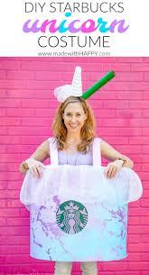 DIY Halloween Costume How To Make A Starbucks Drink Unicorn