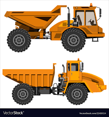100 Articulating Dump Truck Powerful Articulated Dump Truck Royalty Free Vector Image