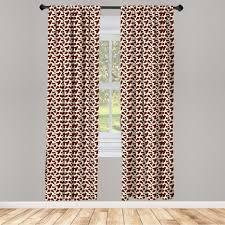gardine fensterbehandlungen 2 panel set für wohnzimmer schlafzimmer dekor abakuhaus kuh druck rinderhaut mit punkt kaufen otto