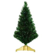 Vickerman 3 Pre Lit Green Fiber Optic Tinsel Tree With Multi Color