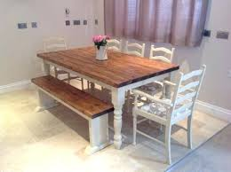Kitchen Table Bench Dimensions Rustic Dining Room Set With Ideas Small 7 Best Shabby Chic Farmhouse