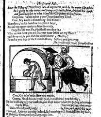 Woodcut Depicting Archbishop Lauds Nose Being Held To The Grindstone In A New Play Called