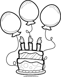 happy birthday cake clipart black and white 1744