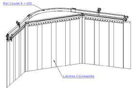 rail pour rideau coulissant ère pvc rouleau de pvc vantaux de remplacement