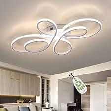 zmh led deckenleuchte wohnzimmer moderne led deckenle dimmbar mit fernbedienung 65 watt kreative wohnzimmer le aus metall in