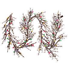 Ge Artificial Christmas Trees by Shop Ge 10 In X 9 Ft Pre Lit Indoor Outdoor Branch Artificial
