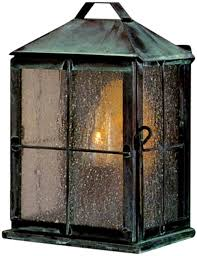 new colonial copper lantern wall sconce garden light