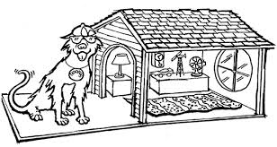 Printable Coloring Pages With Doghouse