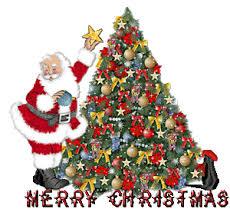 Animated Christmas Tree With Santa Claus