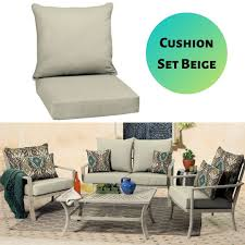 Details About Deep Seat Patio Cushion Set Dining Chair Pads Cushions  Outdoor UV Durable Solid