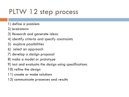 PPT A parison of the 12 step PLTW design process to the 7