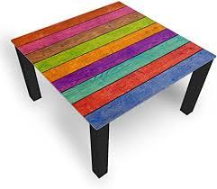 dekoglas couchtisch streifen mehrfarbig glastisch